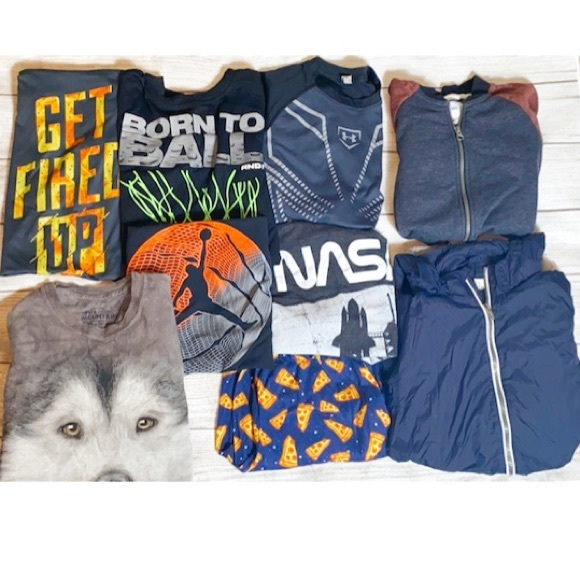 Bundle   Boys Size Large Tops (6) and Jackets (2)
